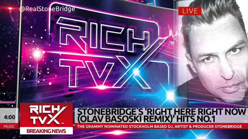 StoneBridge's 'Right Here Right Now' (Olav Basoski Remix) Hits No. 1