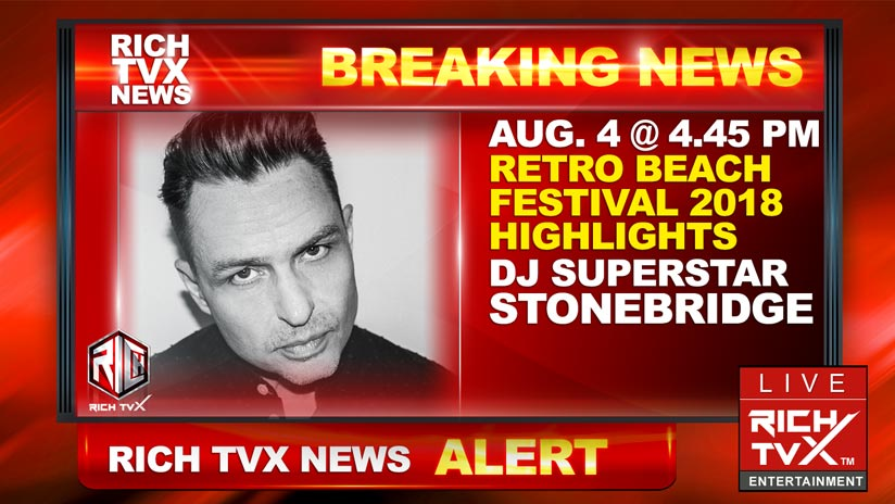 DJ Superstar StoneBridge to Play Retro Beach Festival 2018