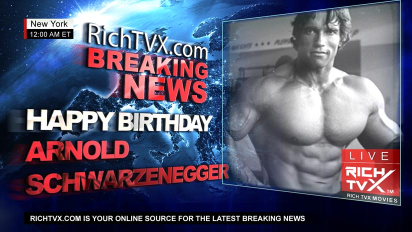 Happy Birthday, Arnold Schwarzenegger!