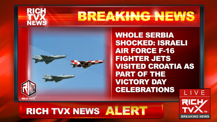 Whole Serbia shocked:  Israeli Air Force F-16 fighter jets visited Croatia