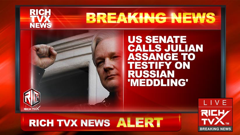 US Senate calls Julian Assange to testify on Russian 'meddling'