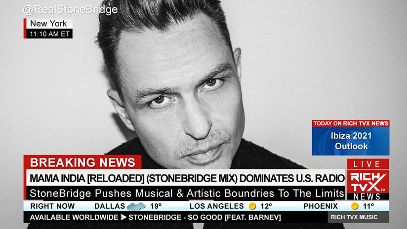 Mama India [Reloaded] (Stonebridge Mix) Is One Of The Most Played Dance Songs On American Radio Stations