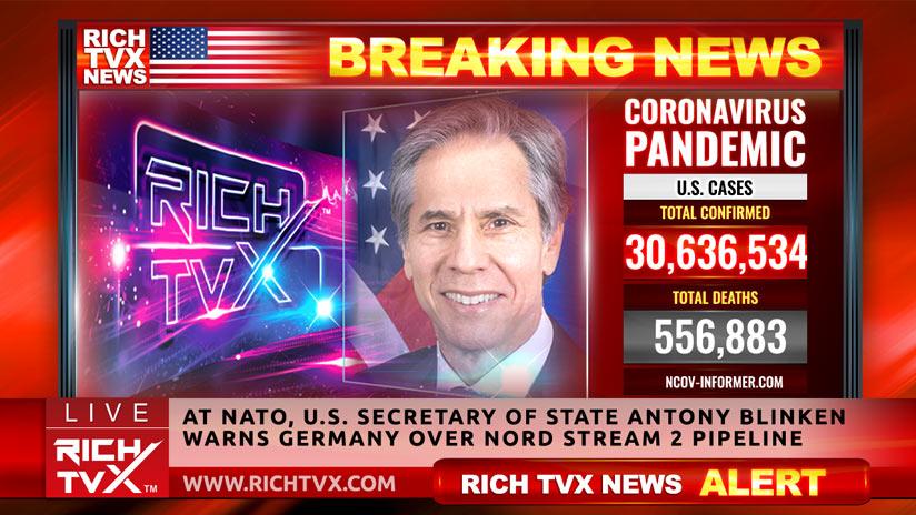 At NATO, U.S. Secretary of State Antony Blinken Warns Germany Over Nord Stream 2 Pipeline